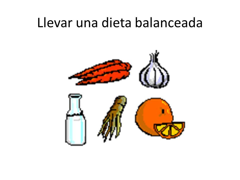Llevar una dieta balanceada