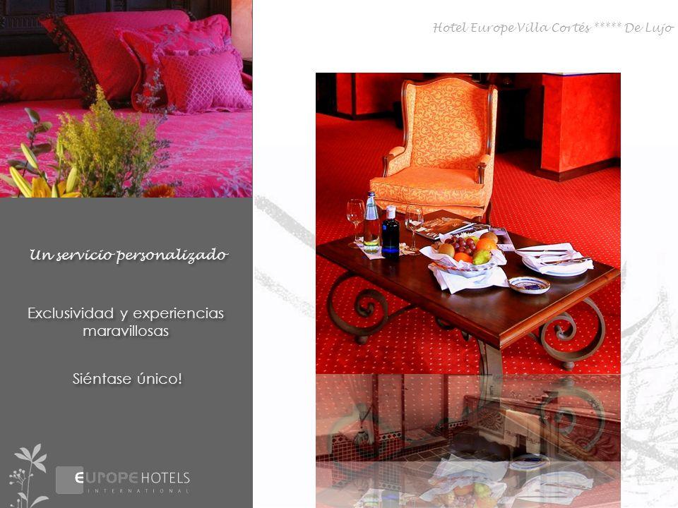 Disfrute del más alto nivel Amplia oferta gastronómica 6 restaurantes 5 bares 6 restaurantes 5 bares Hotel Europe Villa Cortés ***** De Lujo