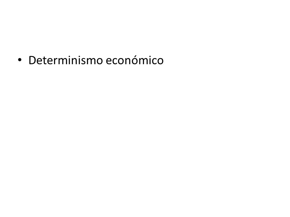 Determinismo económico