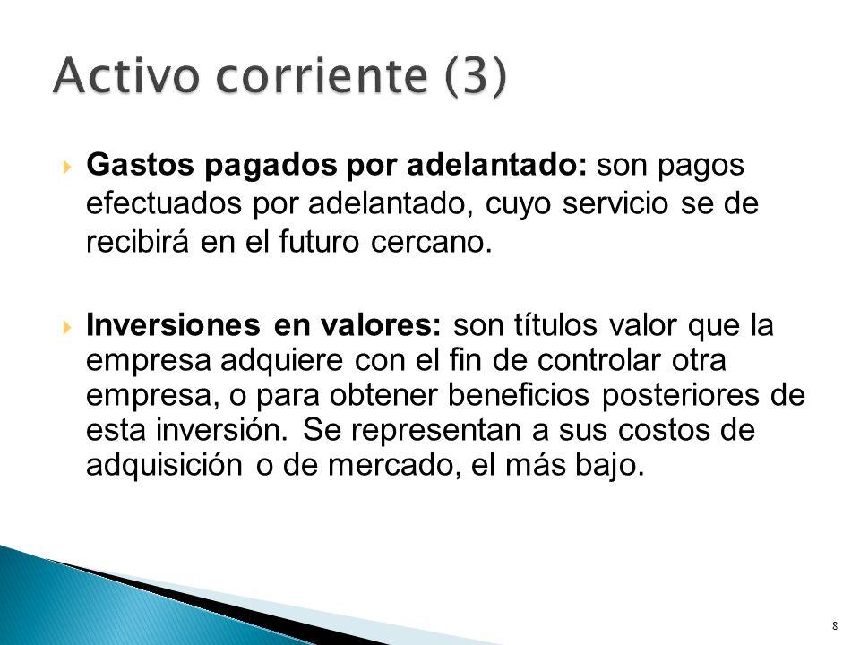  Gastos pagados por adelantado: son pagos efectuados por adelantado, cuyo servicio se de recibirá en el futuro cercano.