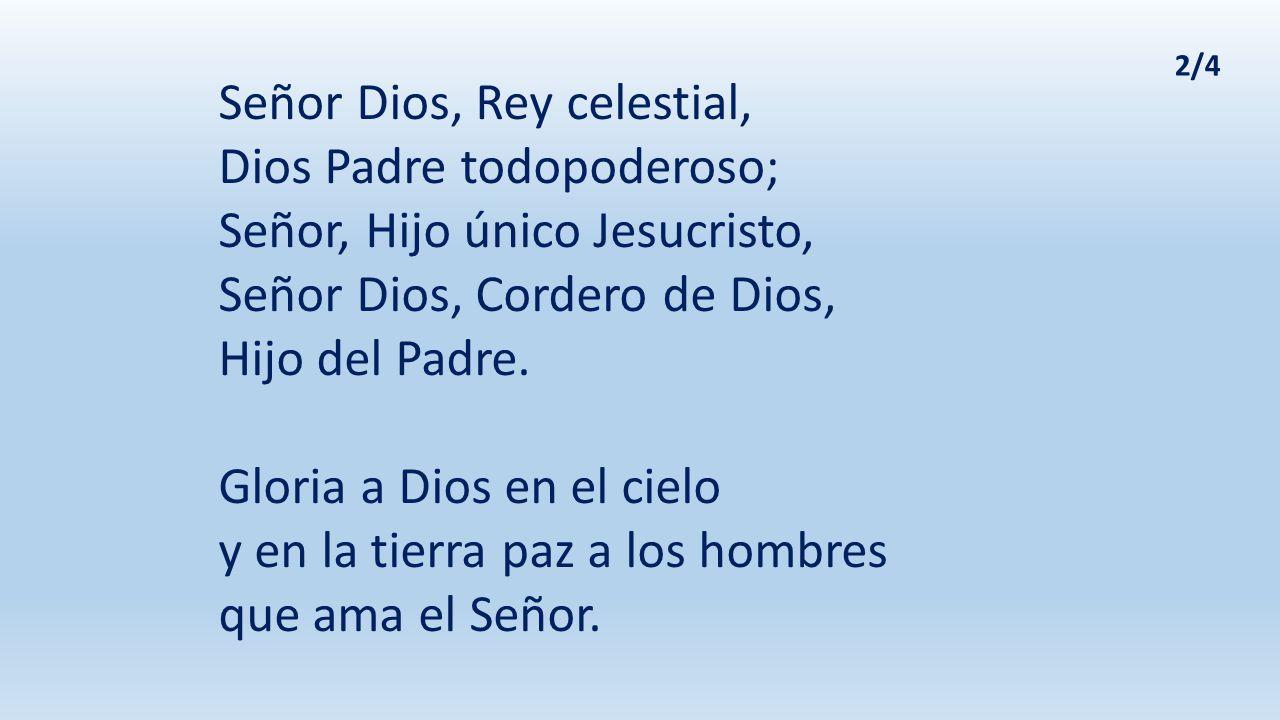 Tú que quitas el pecado del mundo, ten piedad de nosotros; tú que quitas el pecado del mundo, atiende nuestra súplica; tú que estás sentado a la derecha del Padre, ten piedad de nosotros.