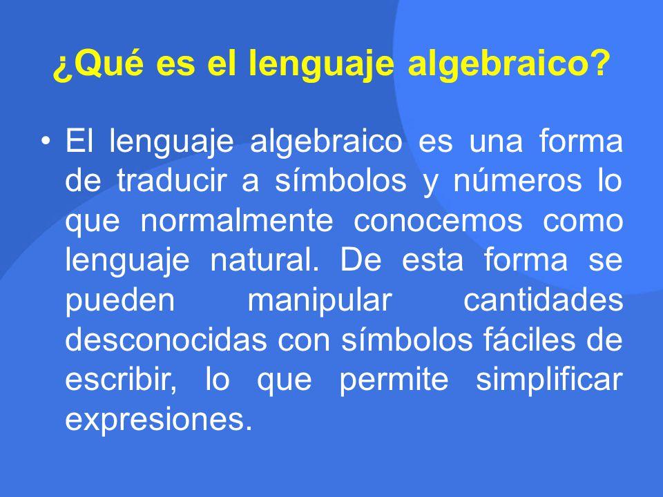 ¿Qué es el lenguaje algebraico.