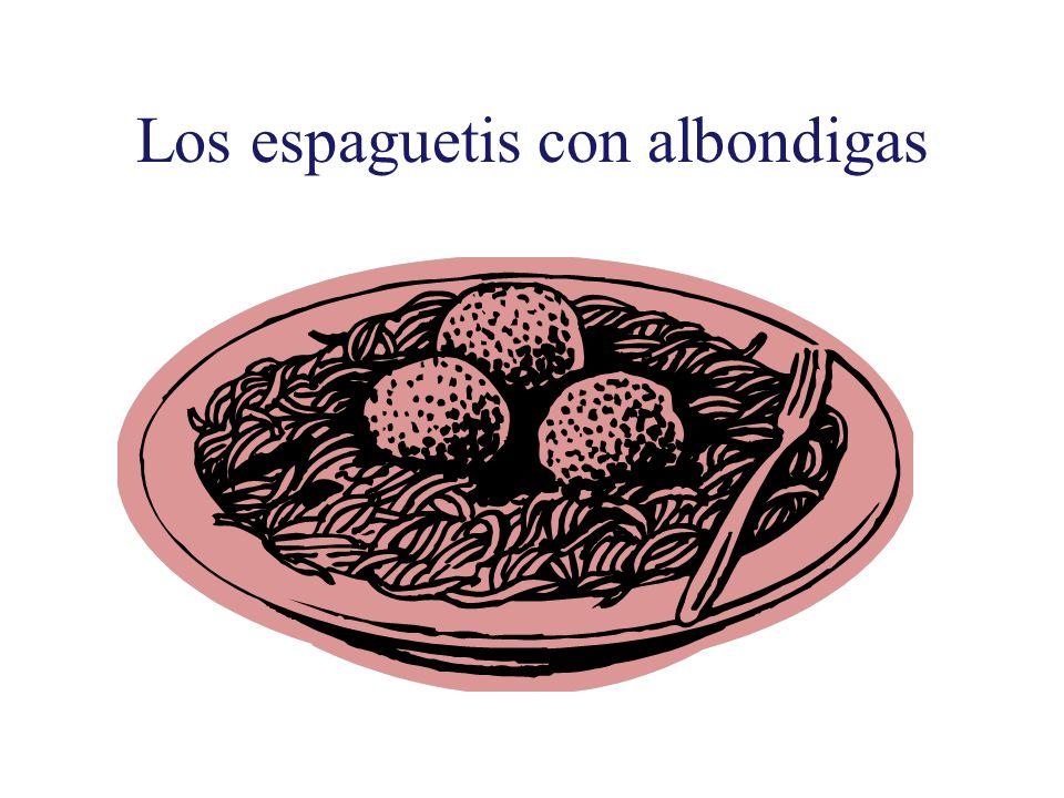 Los espaguetis con albondigas