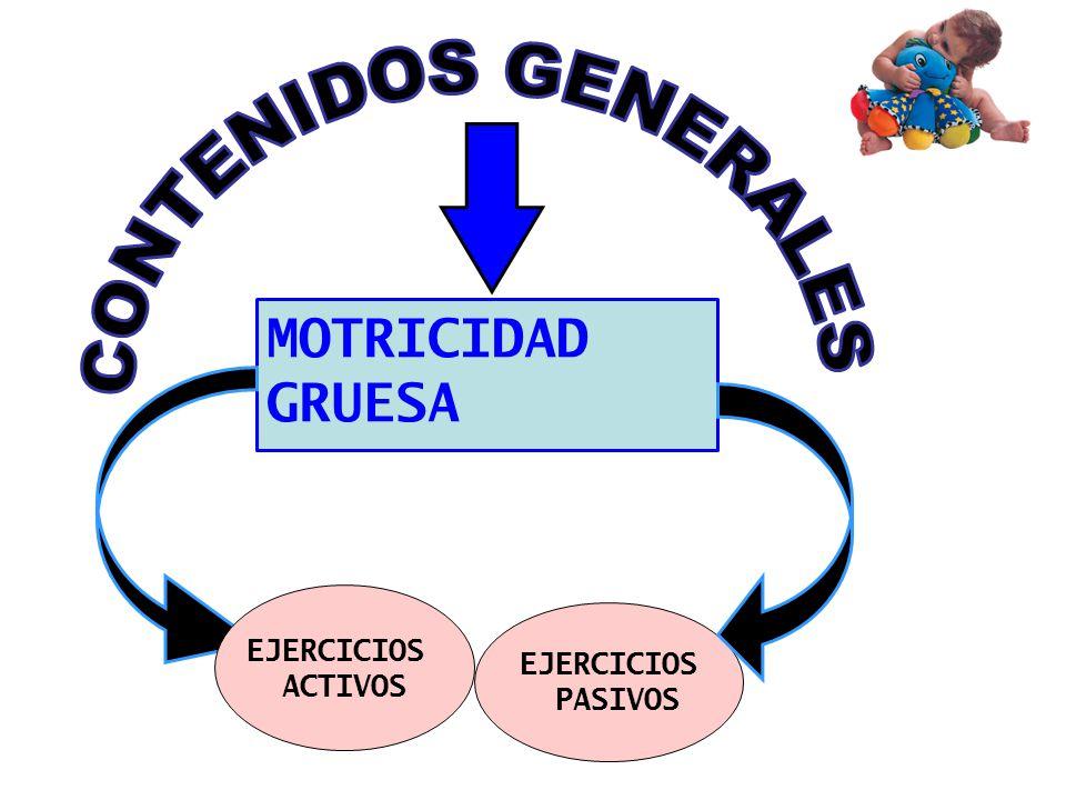 MOTRICIDAD GRUESA EJERCICIOS PASIVOS EJERCICIOS ACTIVOS