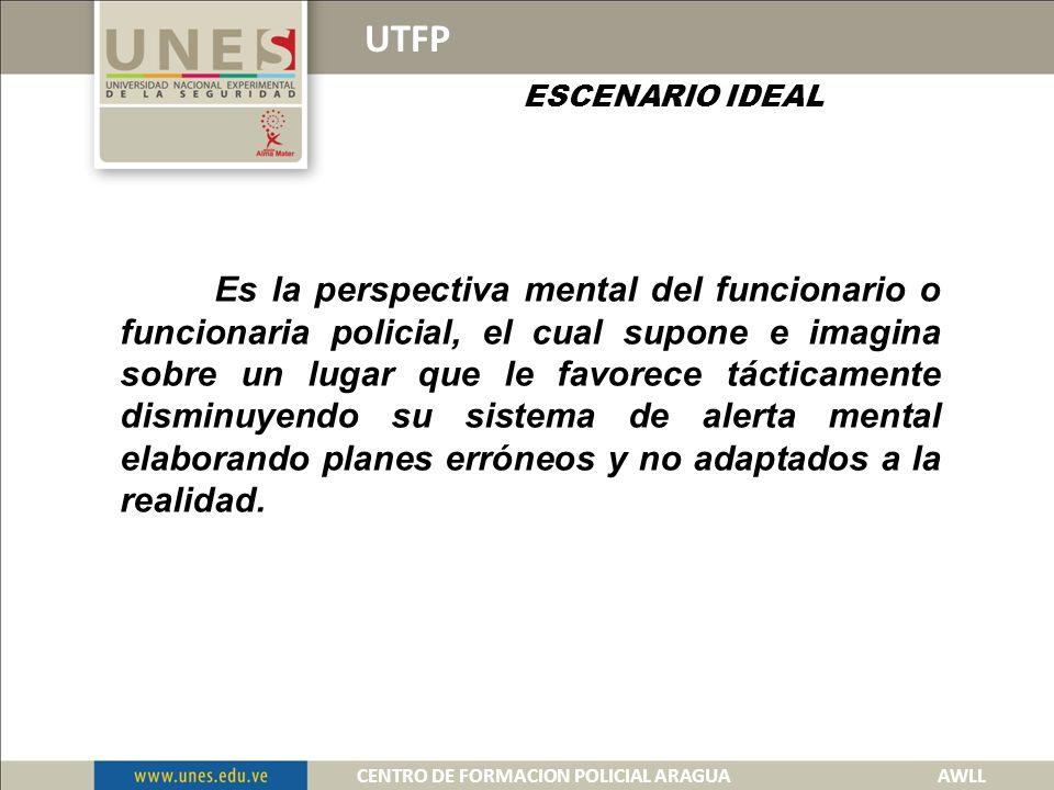 UTFP ESTRUCTURA MENTAL DE LOS POSIBLES ESCENARIOS 1.- ESCENARIO IDEAL 2.- PEOR ESCENARIO.