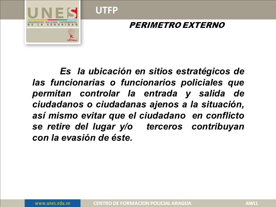 UTFP CONTROLES TACTICOS DEL ESCENARIOS AREA PROBLEMA.