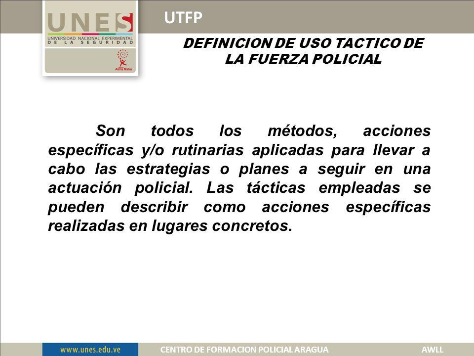 PLANTIAMIENTO TACTICO CENTRO DE FORMACION POLICIAL ARAGUA 2013