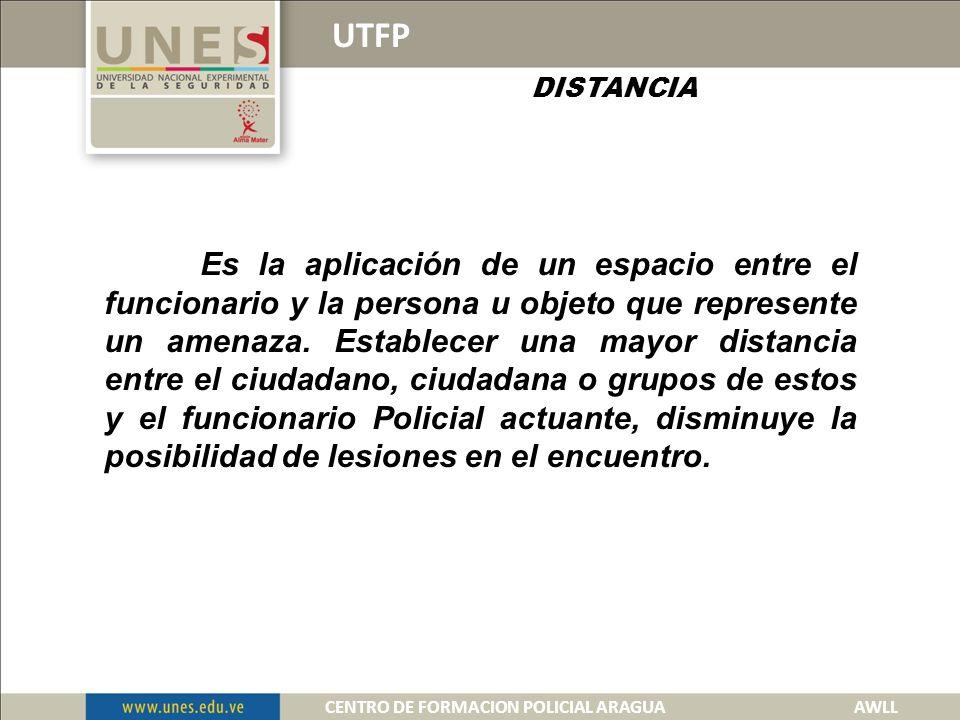 ELEMENTOS DEL PLAN TACTICO UTFP 1.- DISTANCIA 2.- RESTRICCION.