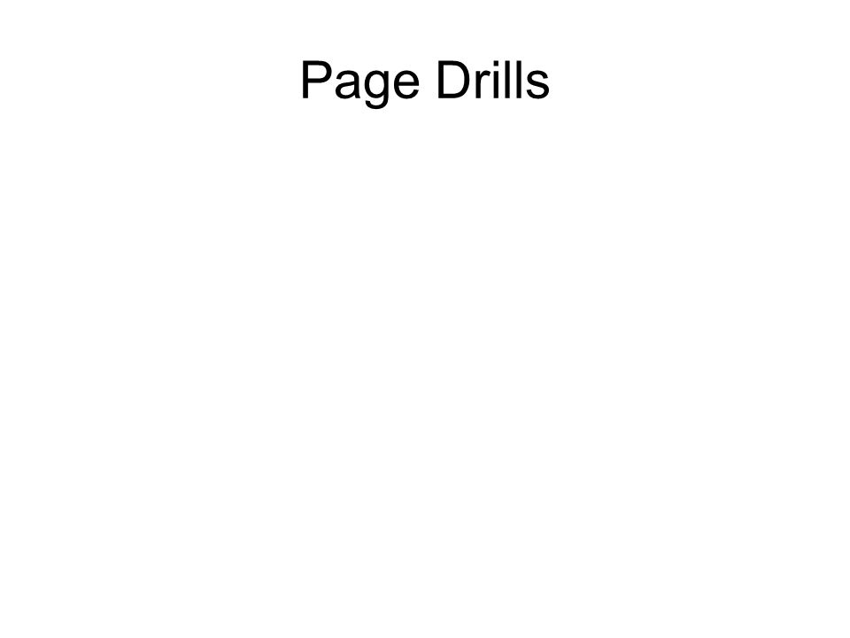 Page Drills