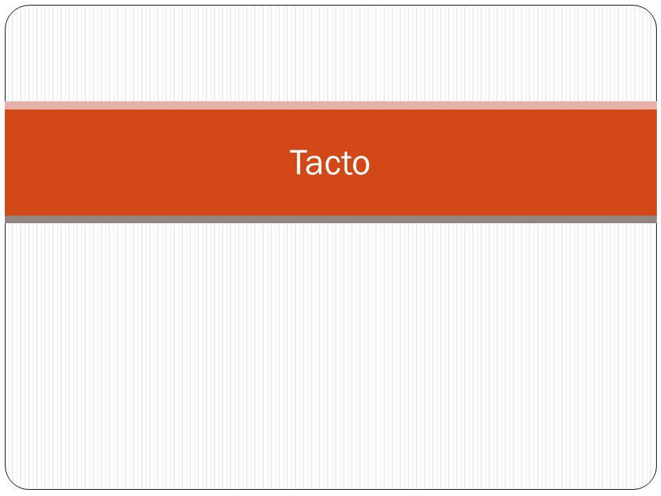 El tacto es el encargado de la percepción de los estímulos que incluyen el contacto y presión, los de temperatura y los de dolor.