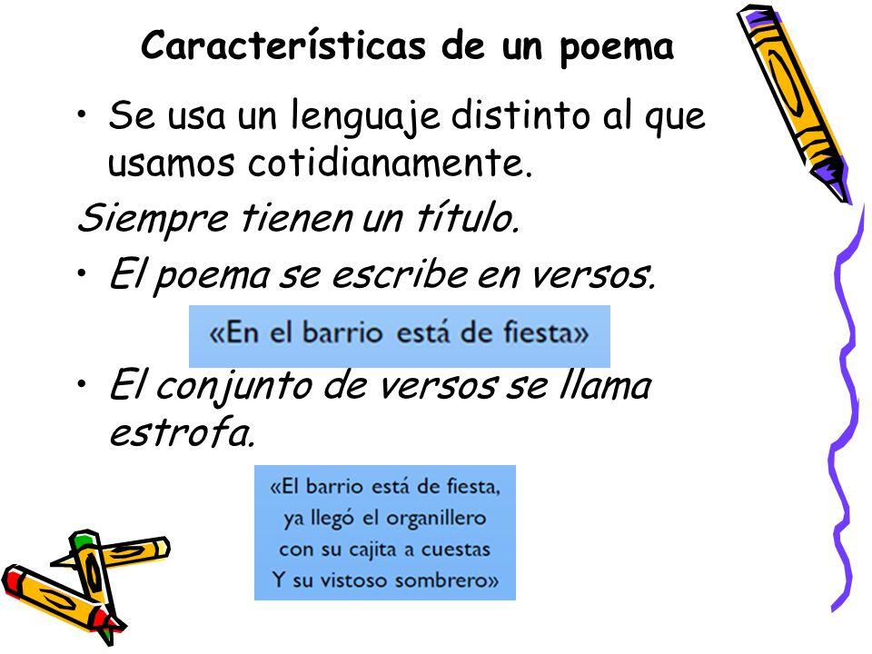 Partes de un poema