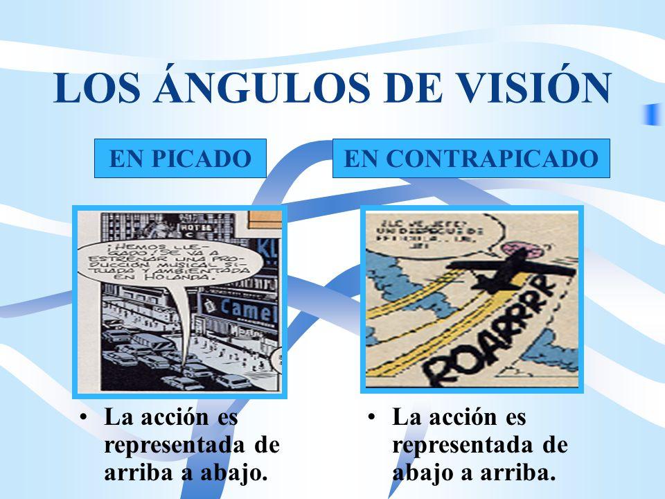 LOS ÁNGULOS DE VISIÓN NORMAL O MEDIO La acción ocurre a la altura de los ojos. El ángulo de visión es el punto de vista desde el que se observa la acc
