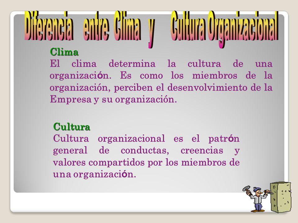 Cultura Cultura organizacional es el patr ó n general de conductas, creencias y valores compartidos por los miembros de una organizaci ó n.