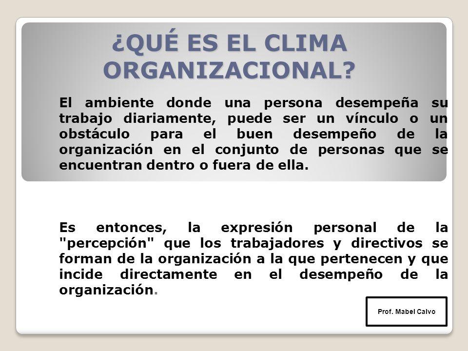¿QUÉ ES EL CLIMA ORGANIZACIONAL.