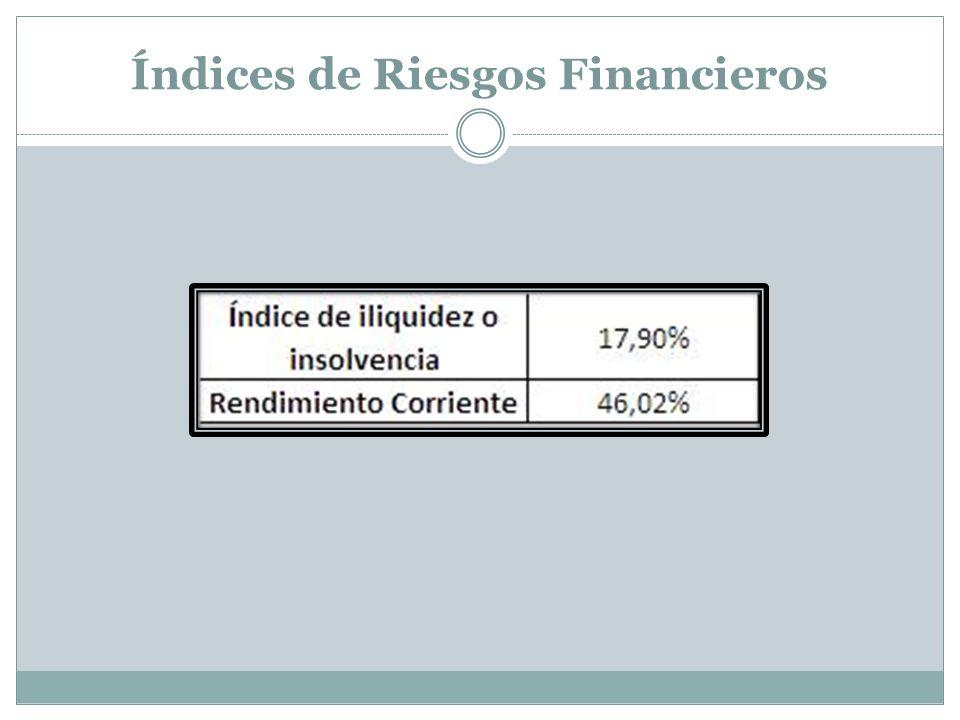 Índices de Riesgos Financieros