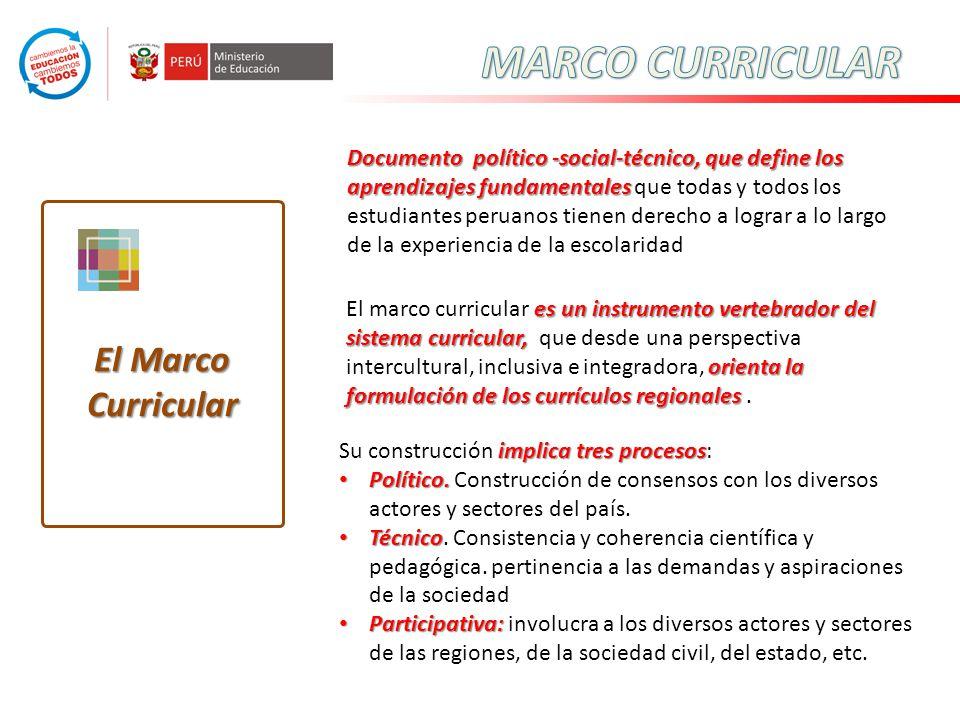 Documento político -social-técnico, que define los aprendizajes fundamentales Documento político -social-técnico, que define los aprendizajes fundamen