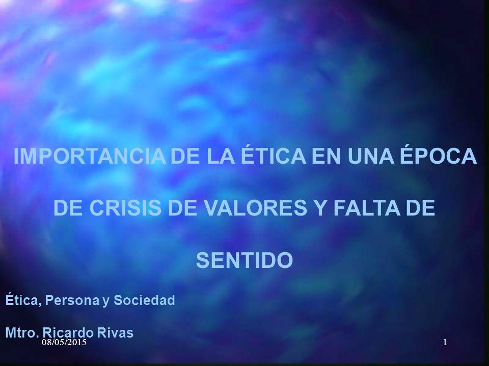 Valores Epoca época de Crisis de Valores