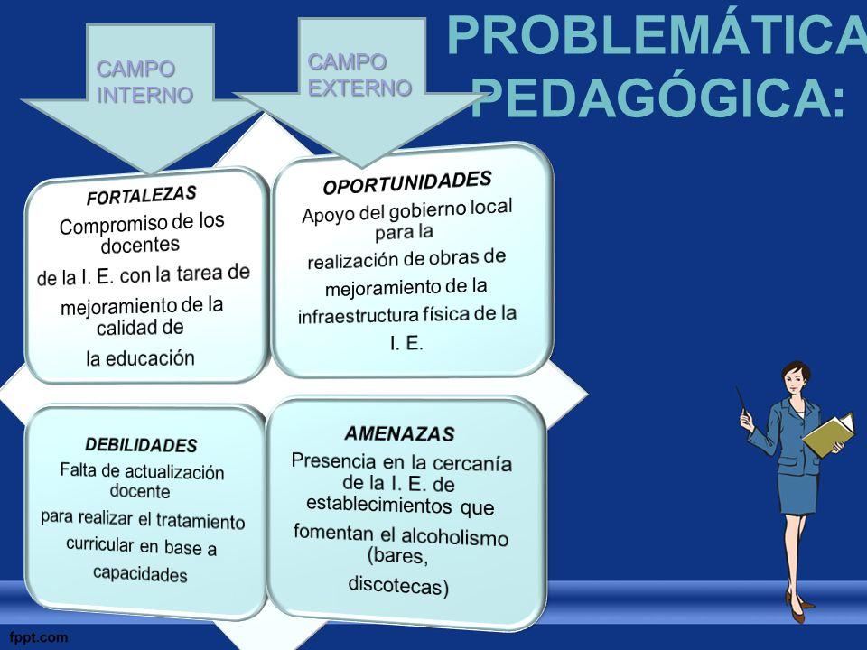 PROBLEMÁTICA PEDAGÓGICA: CAMPO INTERNO CAMPO EXTERNO