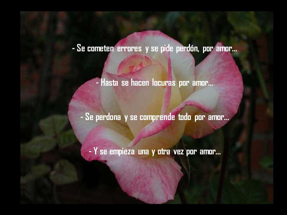- Se cometen errores y se pide perdón, por amor...