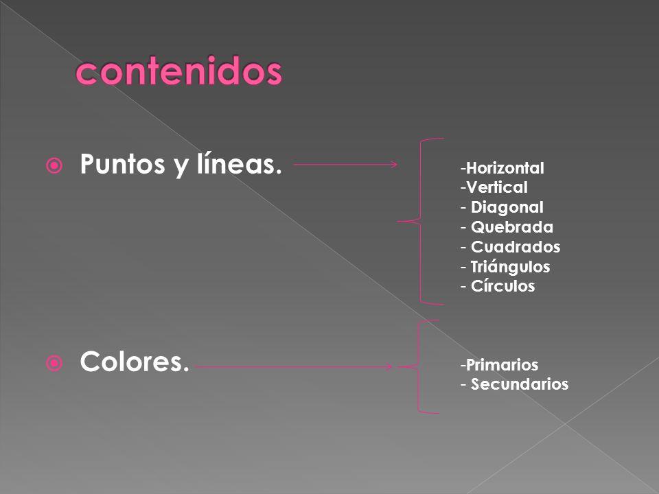  Puntos y líneas. Colores.