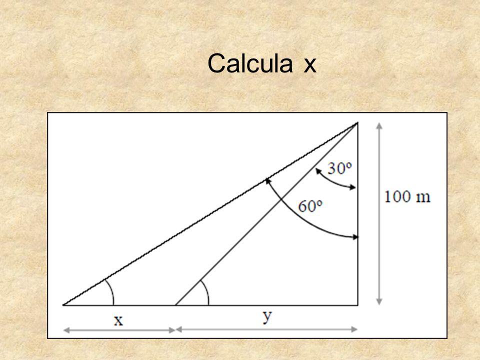 Calcula x