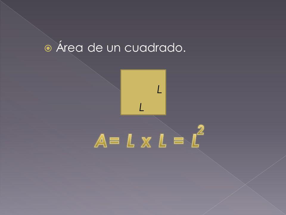  Área de un cuadrado. L L
