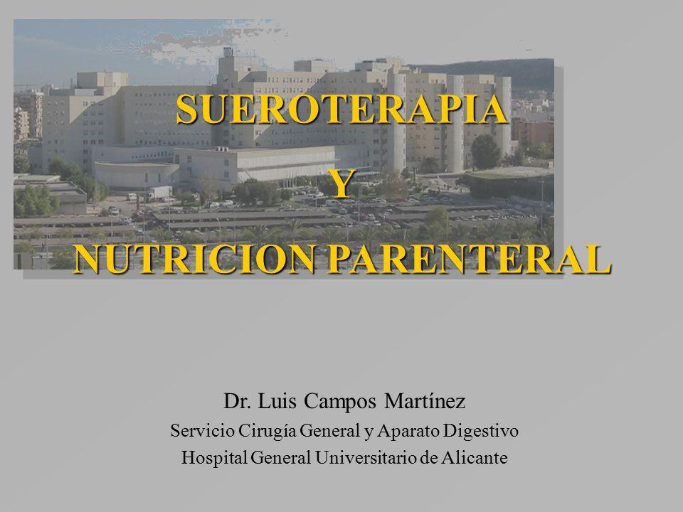 SUEROTERAPIAY NUTRICION PARENTERAL Dr.