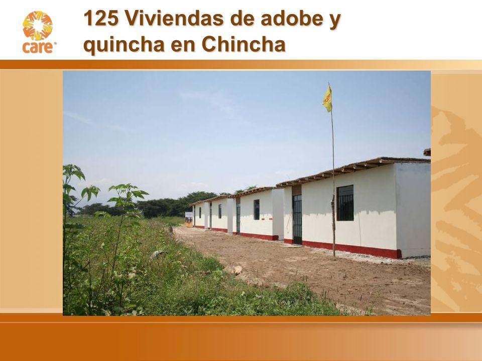 125 Viviendas de adobe y quincha en Chincha