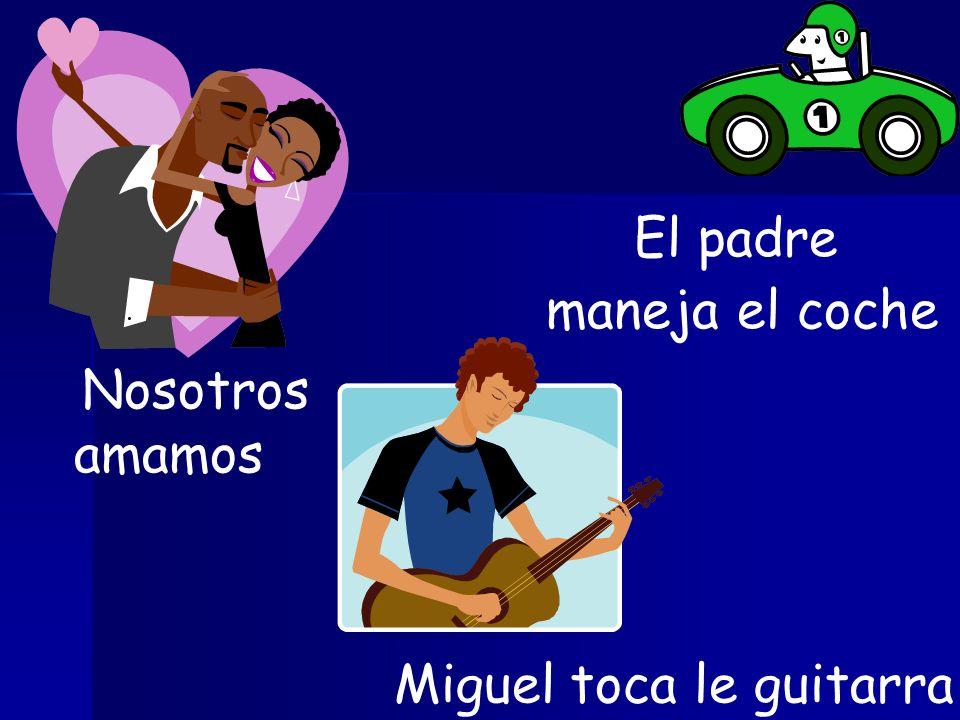 Nosotros Miguel El padre amamos maneja el coche toca le guitarra