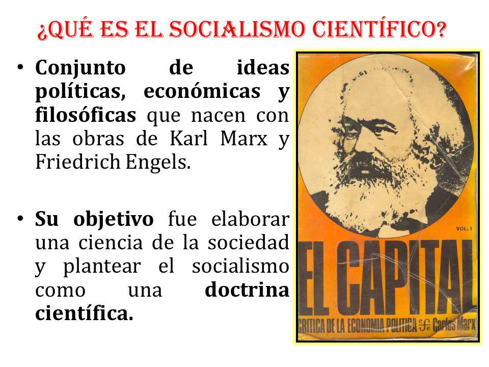 Conjunto de ideas políticas, económicas y filosóficas que nacen con las obras de Karl Marx y Friedrich Engels.