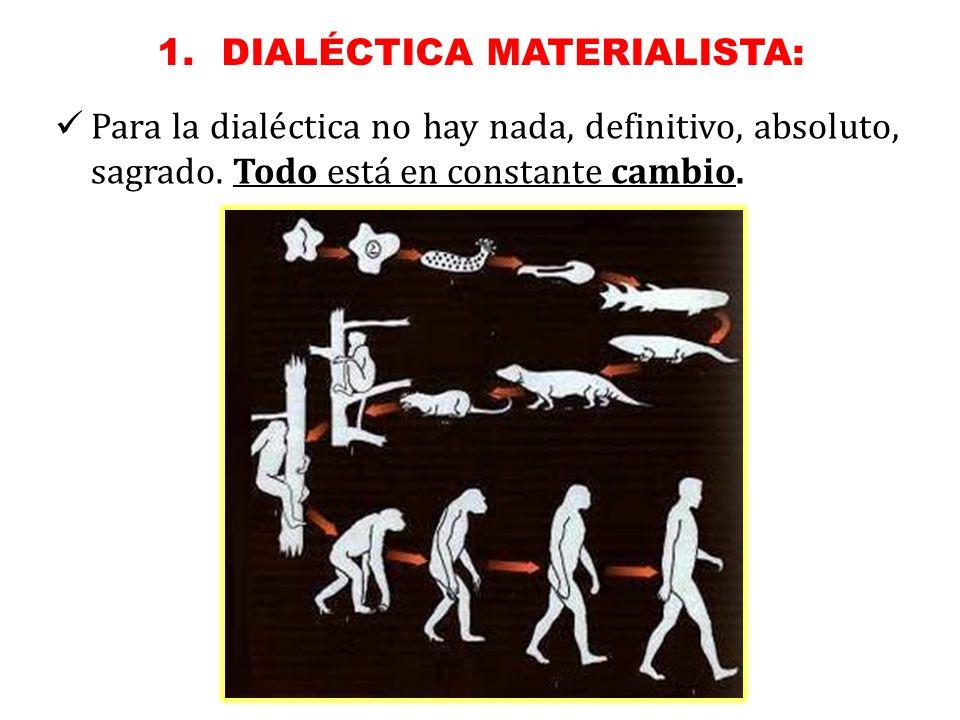 Para la dialéctica no hay nada, definitivo, absoluto, sagrado.
