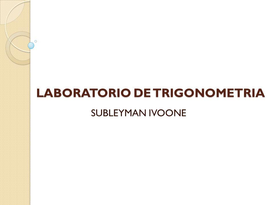 LABORATORIO DE TRIGONOMETRIA SUBLEYMAN IVOONE