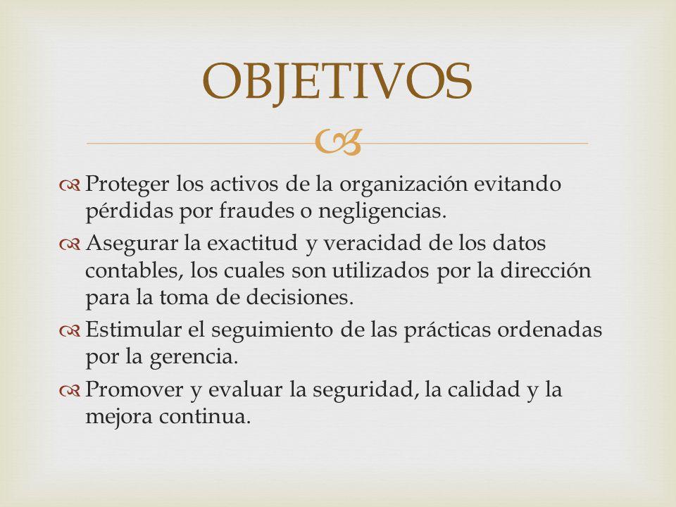   Un plan de organización que proporcione una apropiada distribución funcional de la autoridad y la responsabilidad.