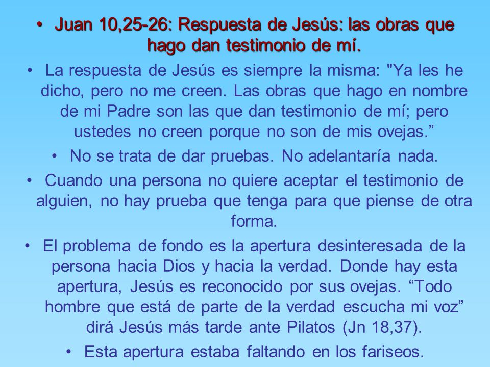 Resultado de imagen para Juan 10,22-24