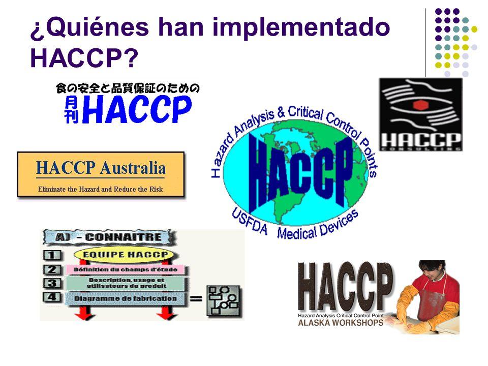 ¿Quiénes han implementado HACCP?