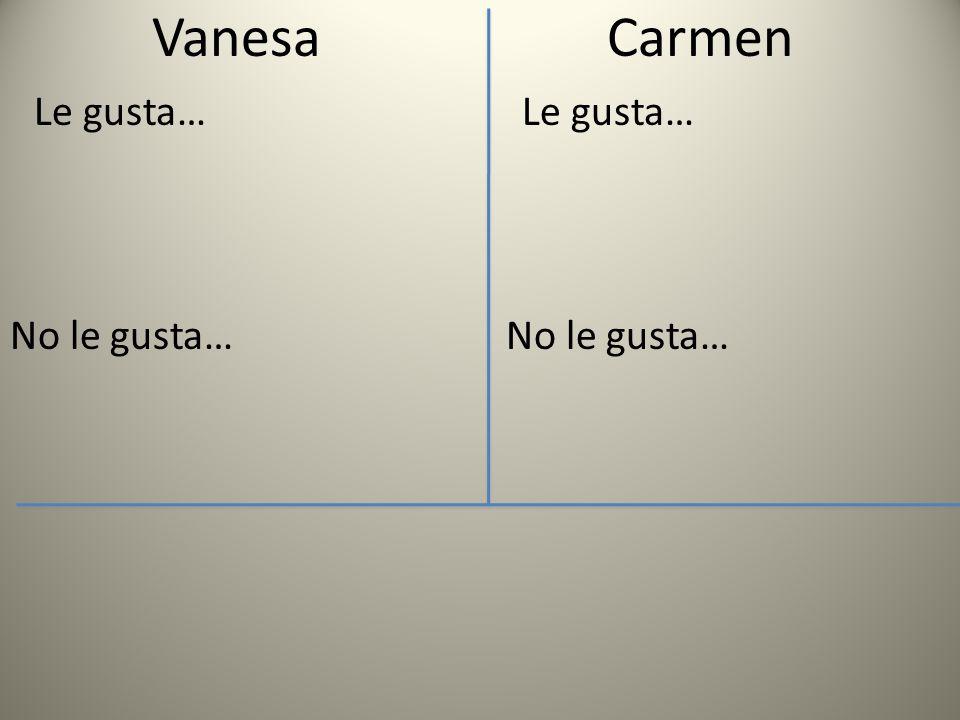 Vanesa Le gusta… No le gusta… Carmen Le gusta… No le gusta…