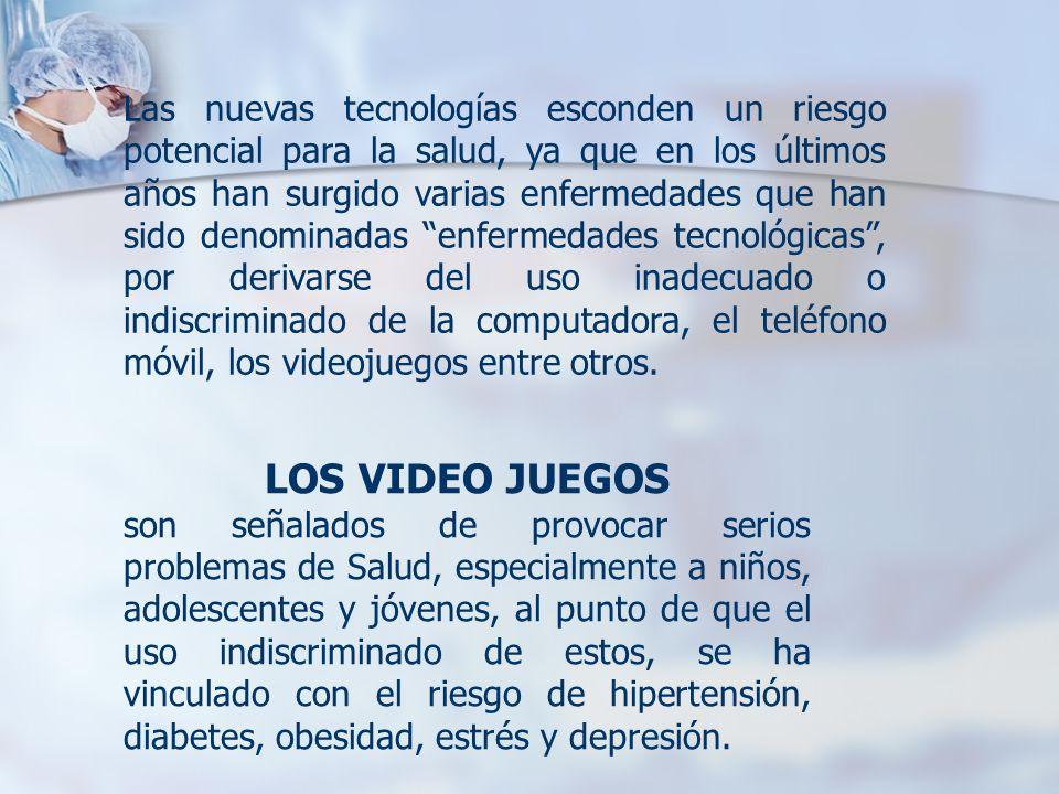 LOS VIDEO JUEGOS son señalados de provocar serios problemas de Salud, especialmente a niños, adolescentes y jóvenes, al punto de que el uso indiscrimi