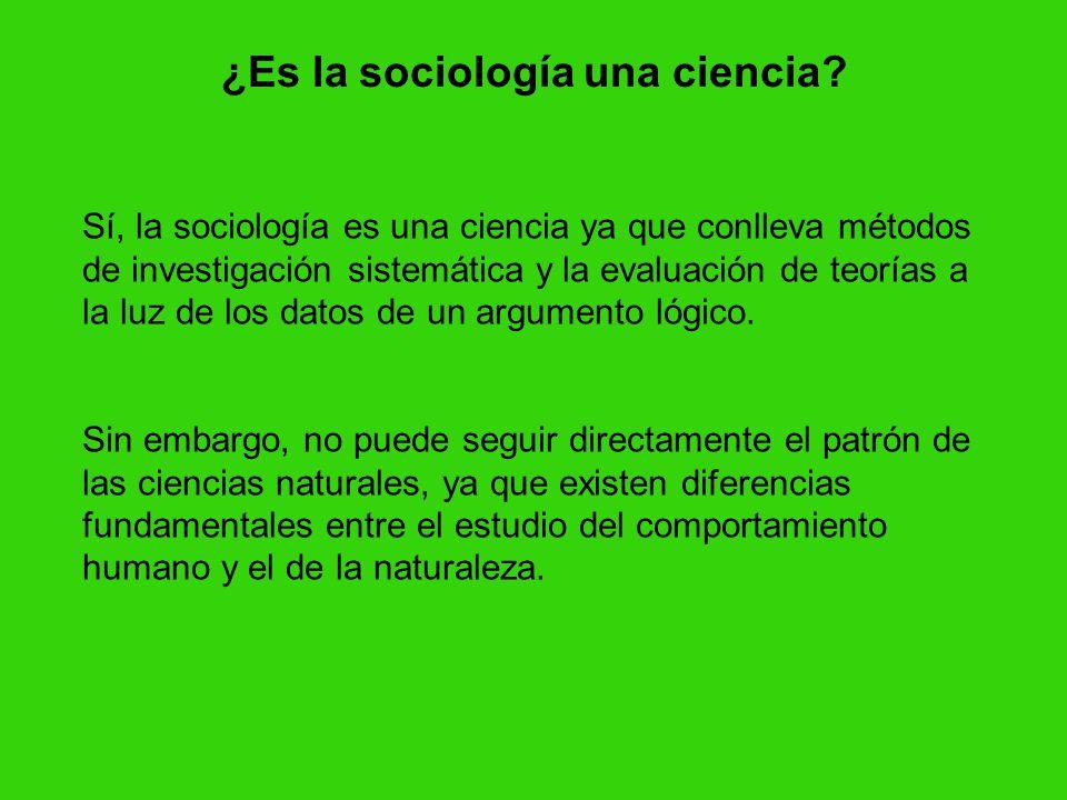 ¿Es la sociología una ciencia.