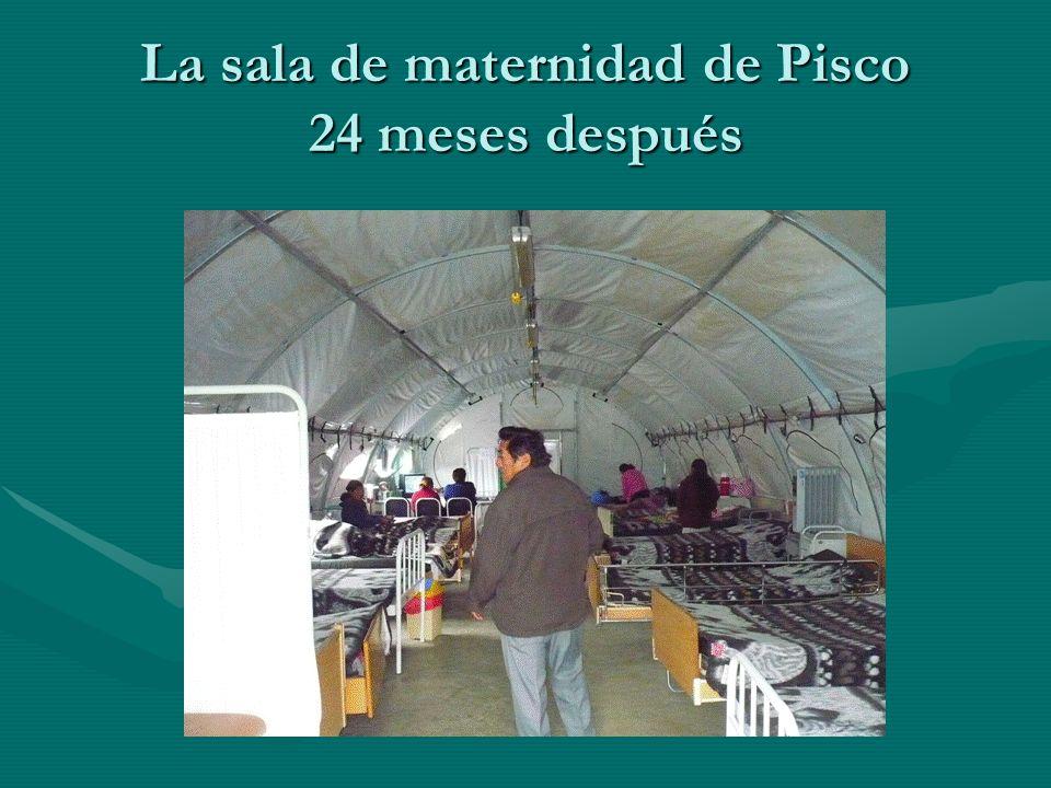 La sala de maternidad de Pisco 24 meses después