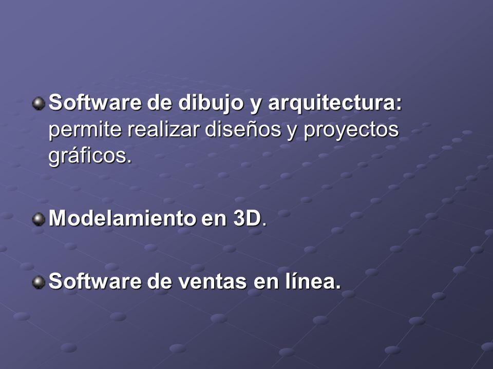 Software de dibujo y arquitectura: permite realizar diseños y proyectos gráficos.