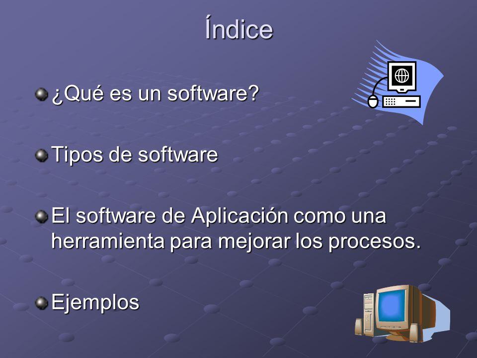 Índice ¿Qué es un software.