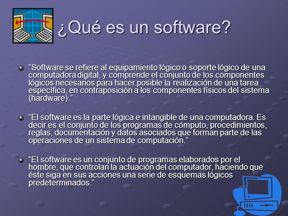 ¿Qué es un software.