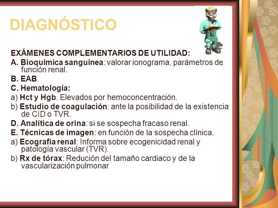 DIAGNÓSTICO EXÁMENES COMPLEMENTARIOS DE UTILIDAD: A.