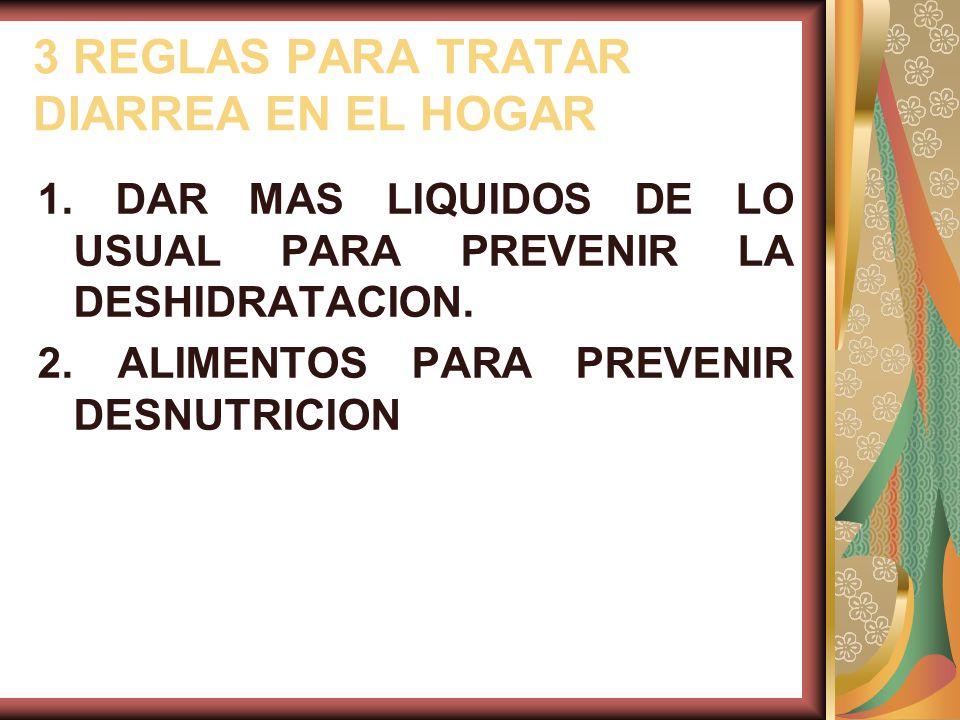 3 REGLAS PARA TRATAR DIARREA EN EL HOGAR 1.