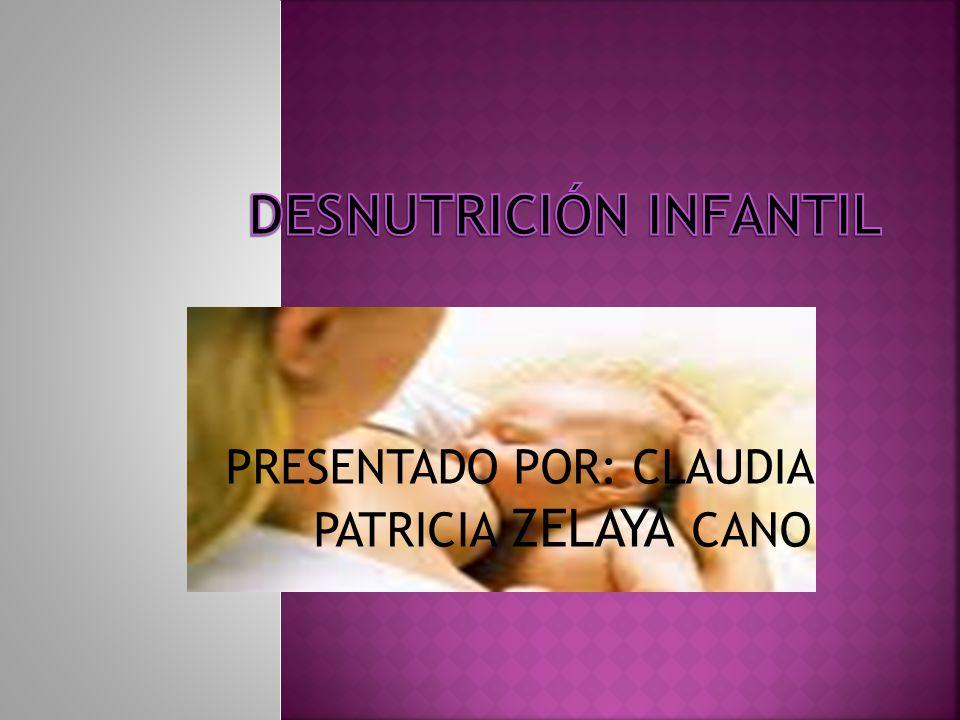 PRESENTADO POR: CLAUDIA PATRICIA ZELAYA CANO