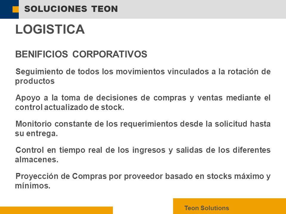  SAP AG 2003, mySAP ERP – Technology Facts, 10 SOLUCIONES TEON Teon Solutions LOGISTICA  GESTIÓN DE REQUERIMIENTOS  CONTROL DE STOCK  CONTROL DE COMPRAS E IMPORTACIONES  GASTOS REALIZADOS POR PERIODOS  REPORTES EN TIEMPO REAL SOLUCIÓN LOGISTICA GESTIÓN MULTIEMPRESARIAL MODULOS COMPRAS IMPORTACIONES