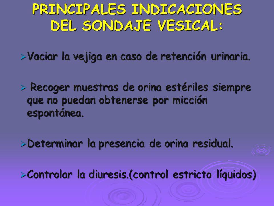 PRECAUCIONES DESPUES DE INSERTAR LA SONDA 3.