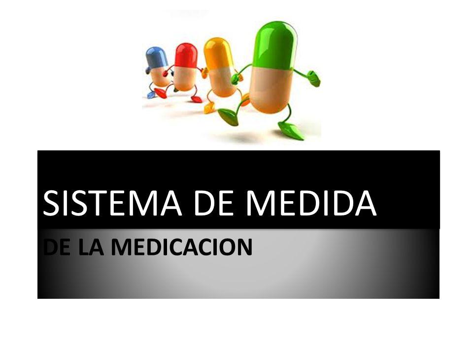 DE LA MEDICACION SISTEMA DE MEDIDA