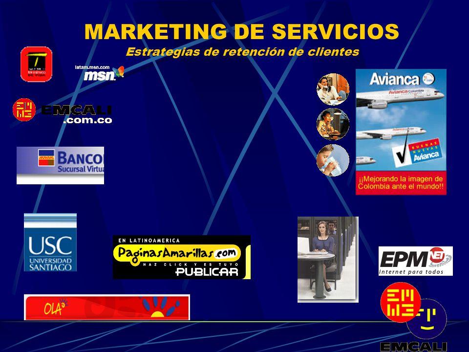 MARKETING DE SERVICIOS Estrategias de retención de clientes