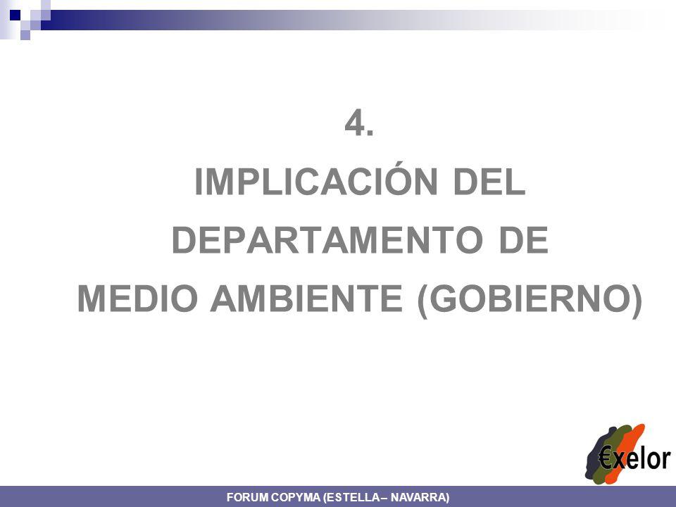4. IMPLICACIÓN DEL DEPARTAMENTO DE MEDIO AMBIENTE (GOBIERNO) FORUM COPYMA (ESTELLA – NAVARRA)